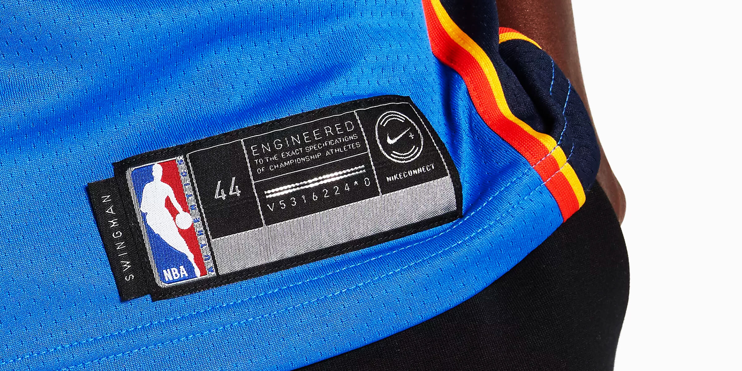 The first NBA connected jersey, featuring NikeConnect