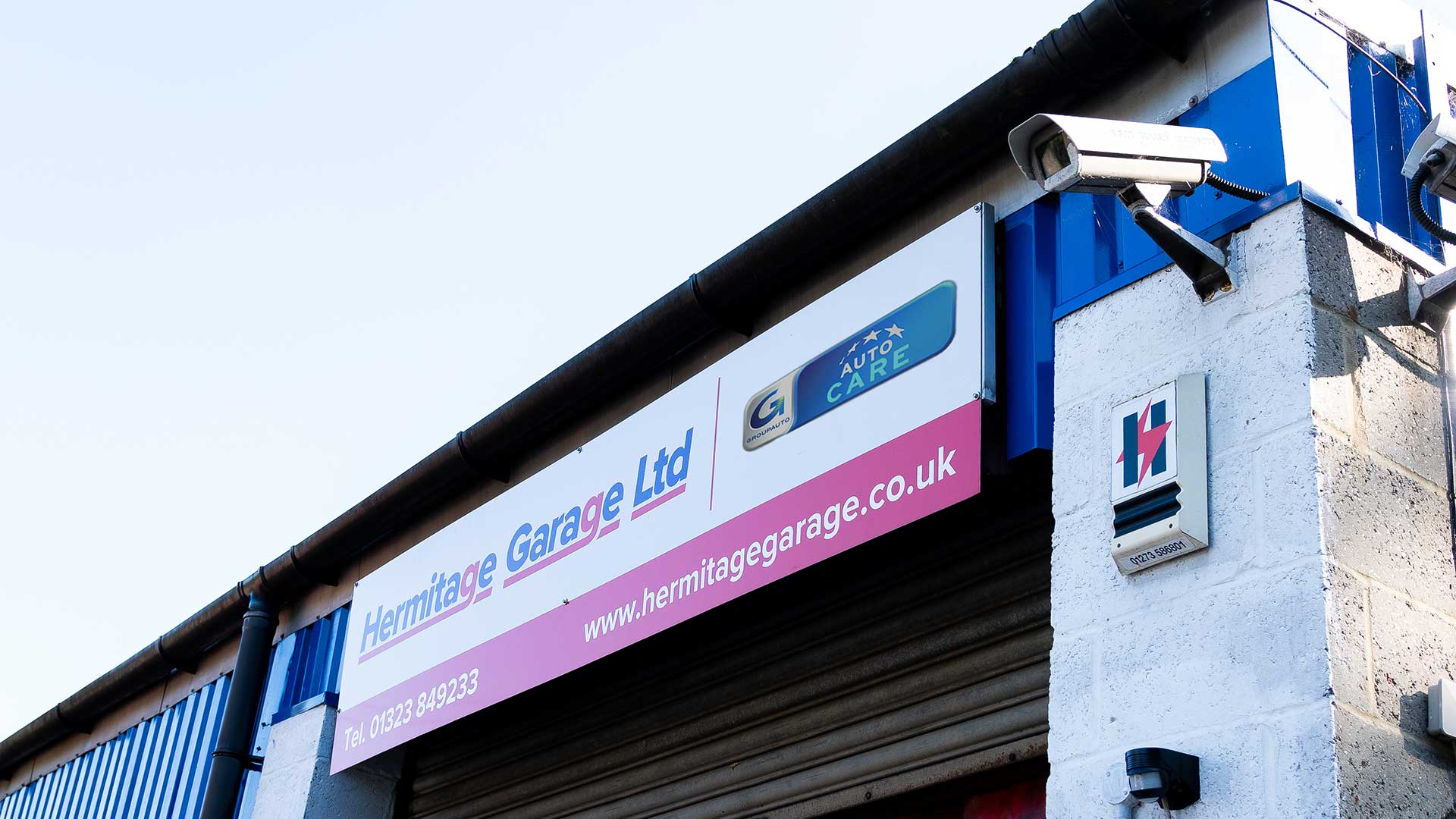 Photo of the exterior of Hermitage Garage
