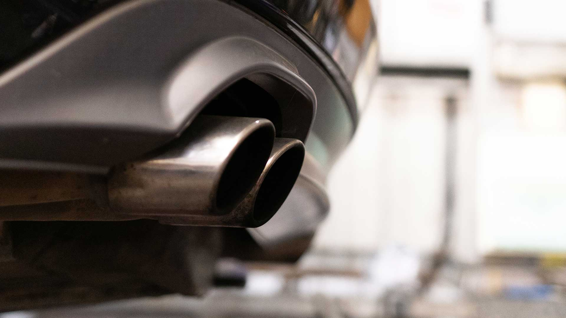 photo of a car exhaust