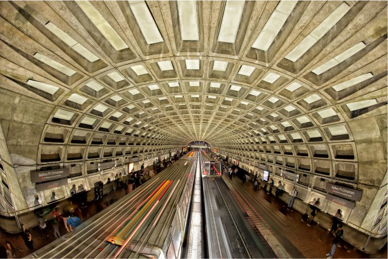 DC area red line to Friendship Heights metro station
