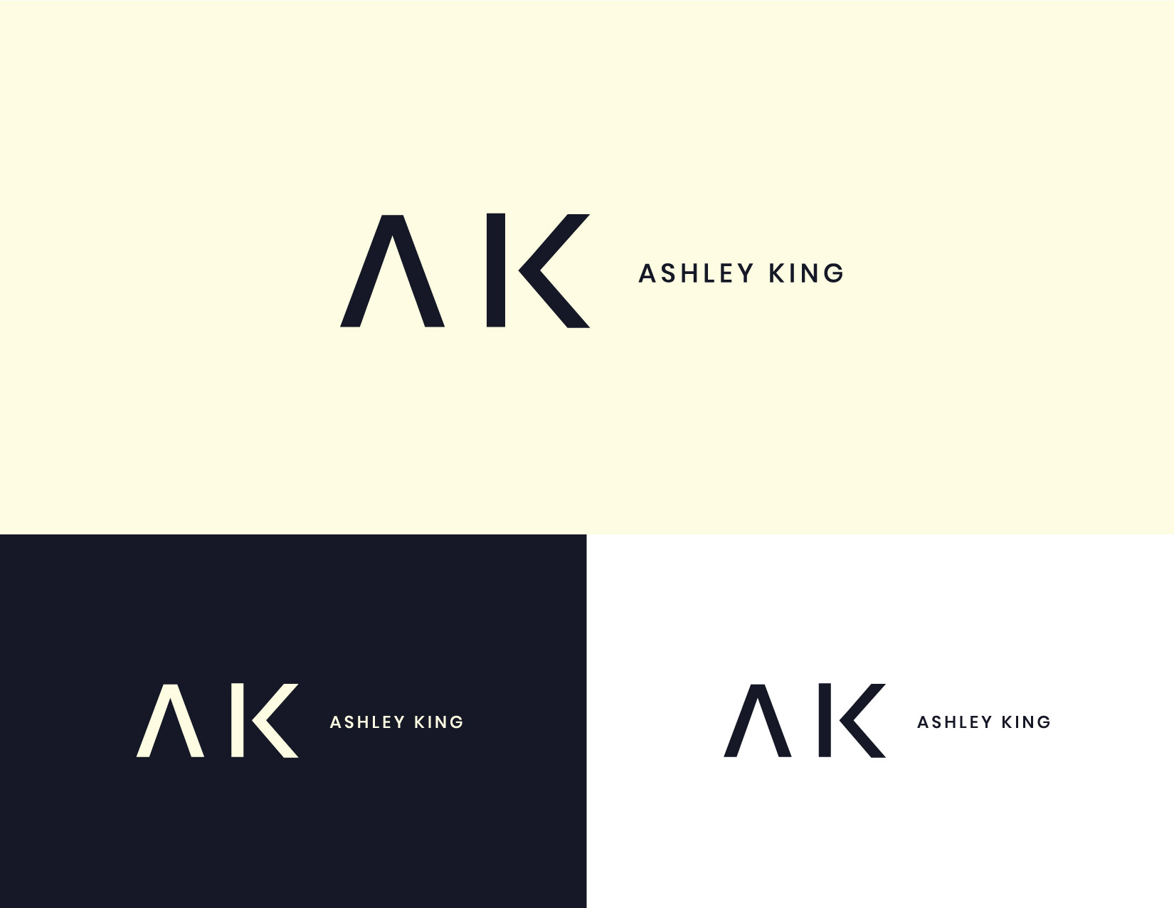 Logo design and branding for Ashley King, a personal fitness instructor. James Cannella Marketing, Design, and Artificial Intelligence Consulting Services