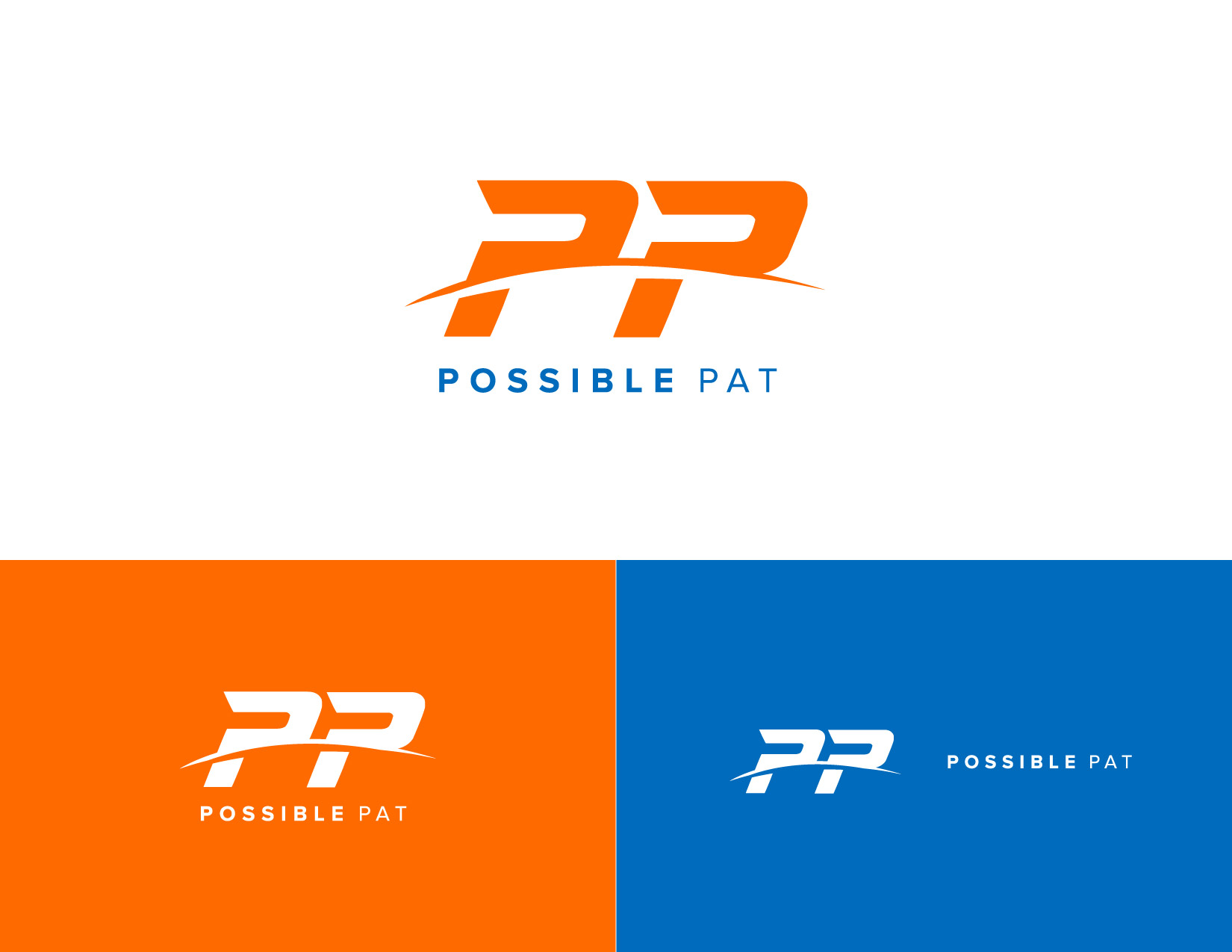 Logo design and branding for Possible Pat, fitness influencer featured on Ellen. James Cannella Marketing, Design, and Artificial Intelligence Consulting Services