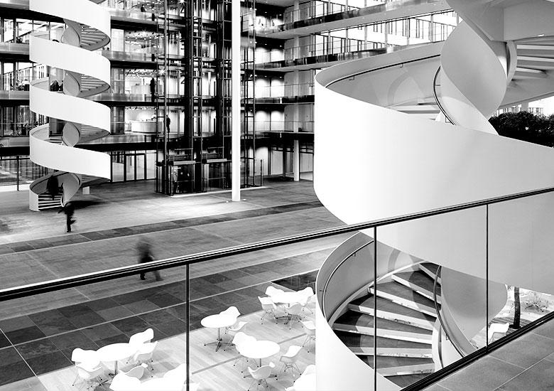 Spektakuläres Atrium HDI Hannover Witte Projektmanagement
