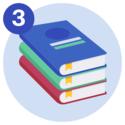 A pile of three textbooks