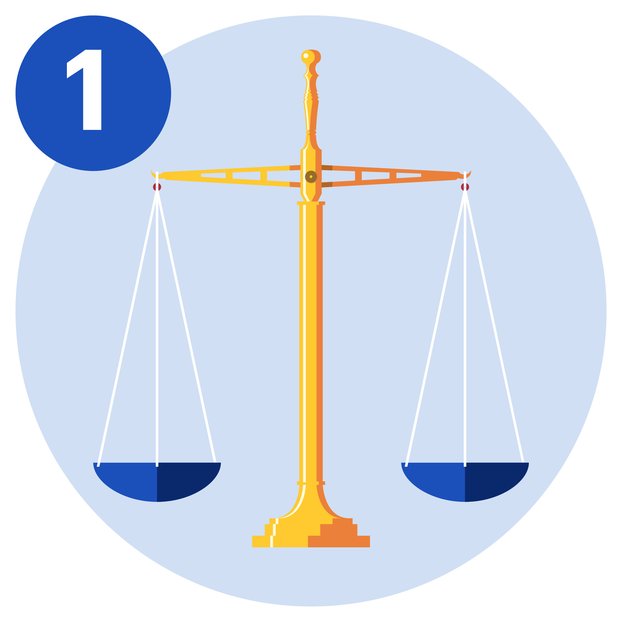#1 A balance scale