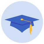 A graduate cap