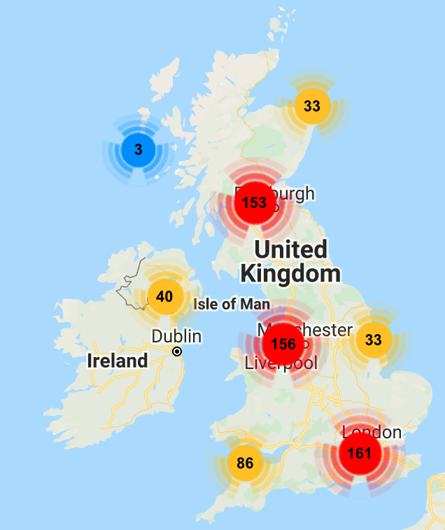 Medify's work experience locator map