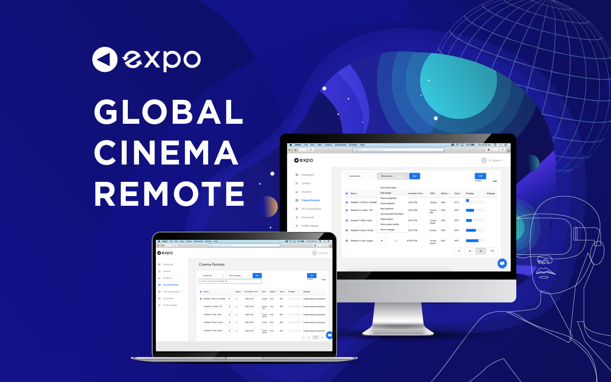 New Feature: Web Cinema Remote - Sync VR Headsets Globally