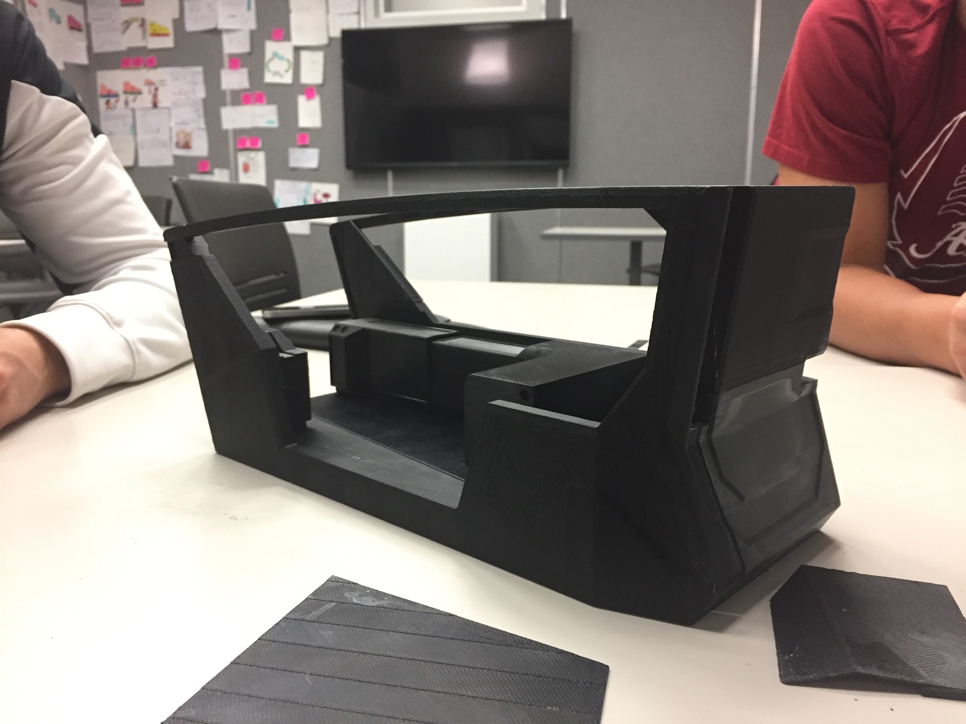 The 3D printed scale model helped us conceptualize and lay out the space using inserts and photoshop.