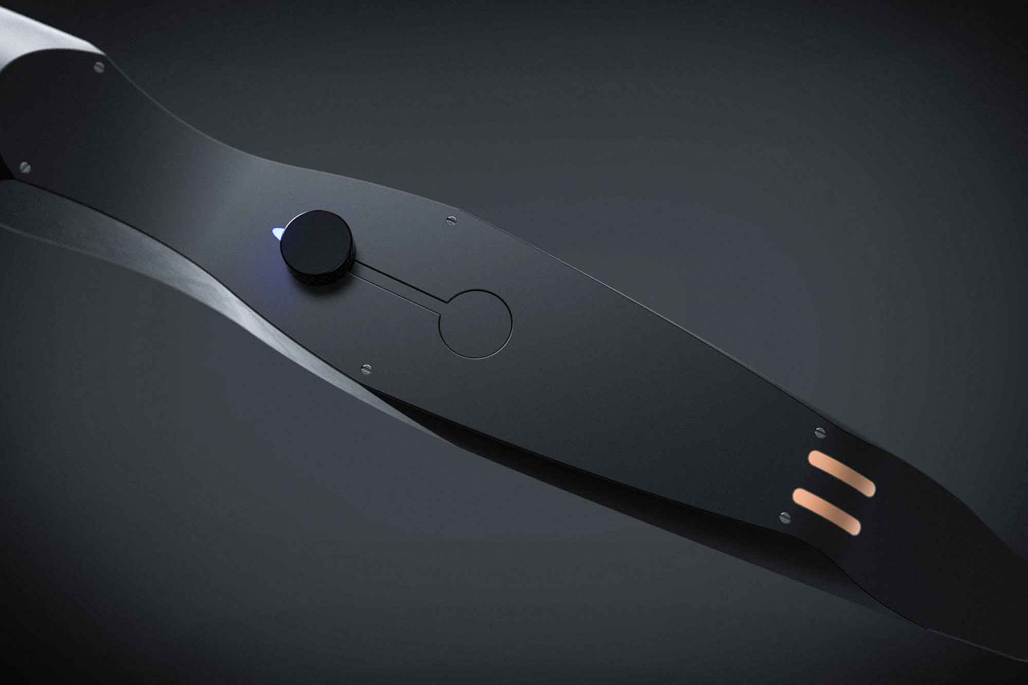 The nose hair trimmer reflects elements of the beard trimmer in a sleeker, slightly more feminine form.