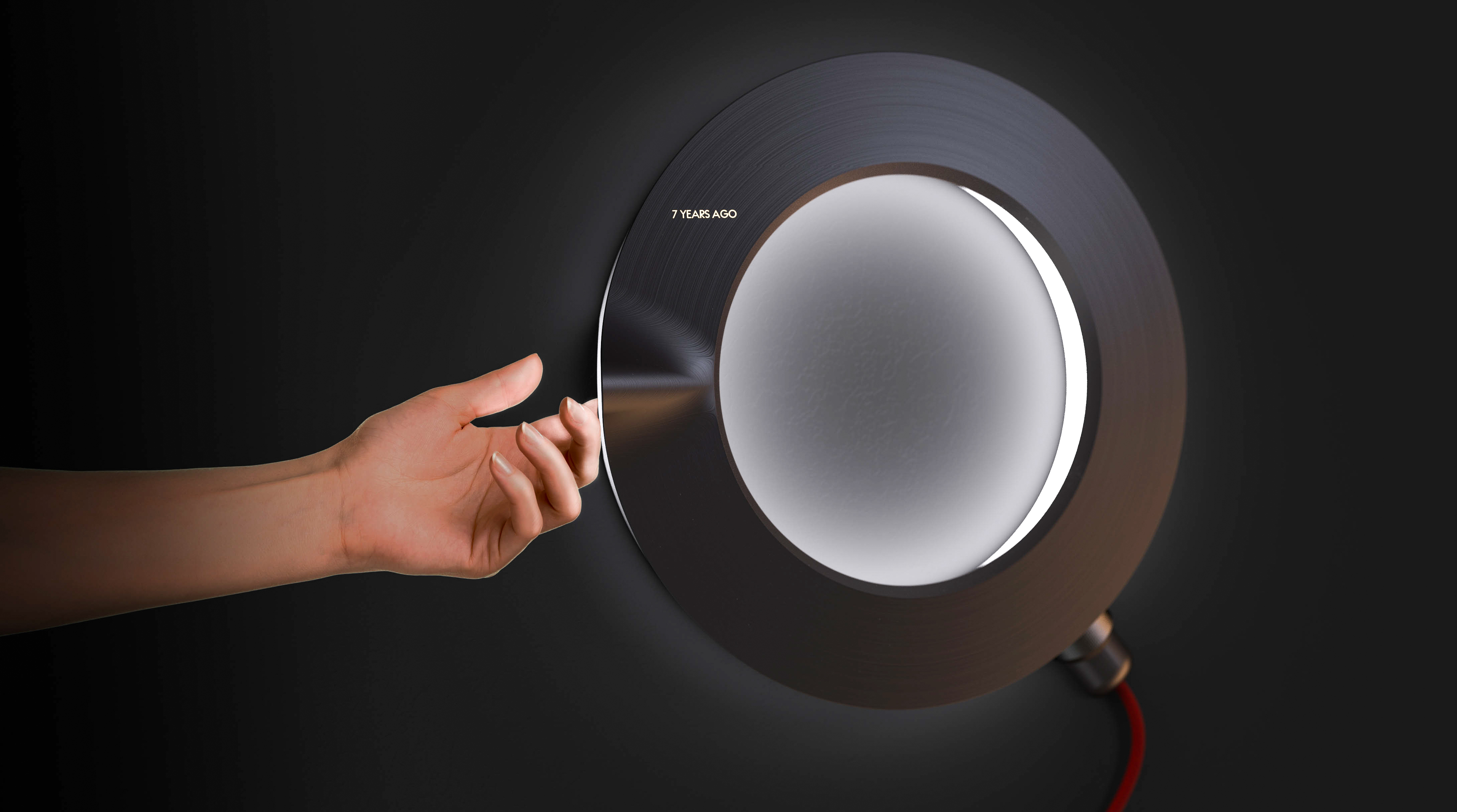 Rotating Datelite to reveal the hidden display is the most physical interaction the average user will have with the lamp after its initial setup.