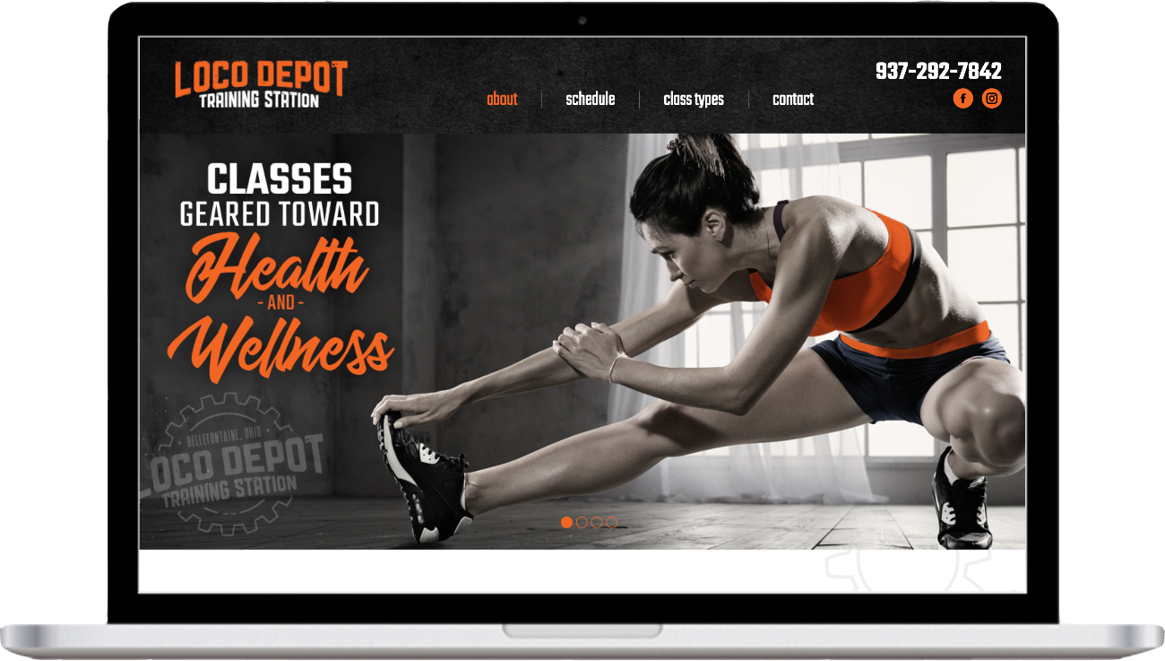 LoCo Depot Training Station Website Mockup