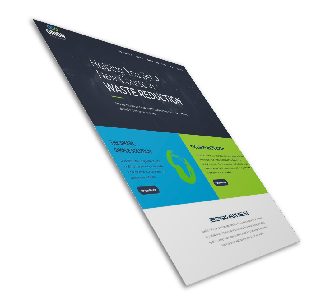 Orion Waste Solutions Website Mockup
