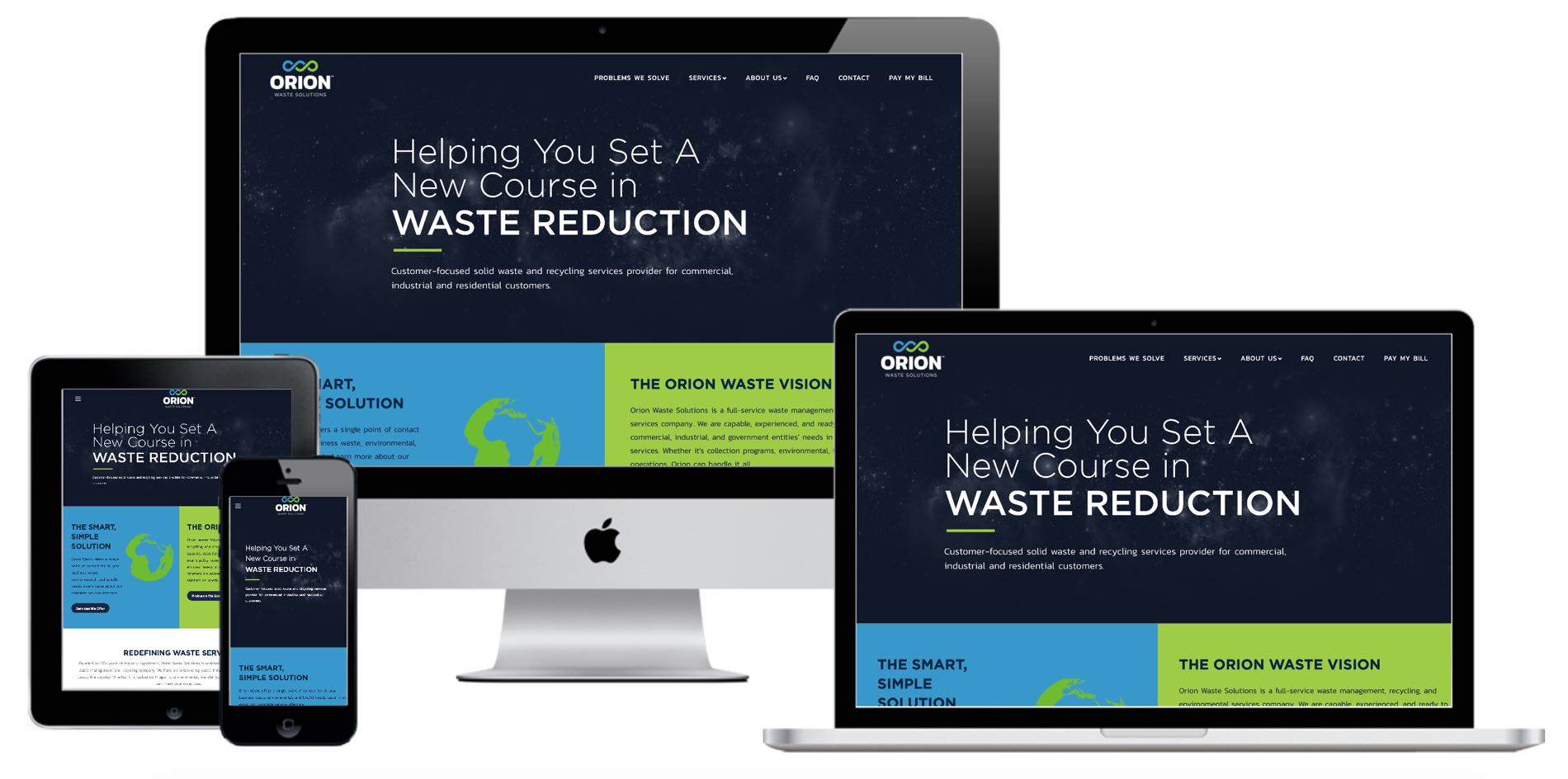 Orion Waste Solutions Devices Mockup