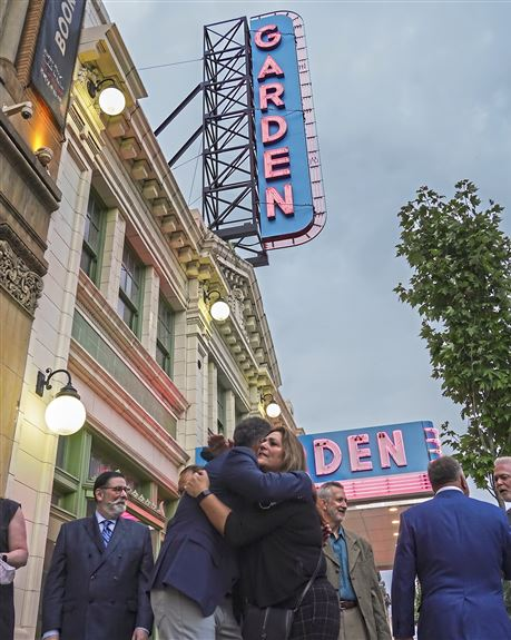 'A symbolic beacon': Lighting of Garden Theater sign a signal of the North Side block's revival