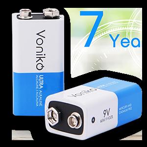 Voniko 9-Volt Ultra alkaline batteries
