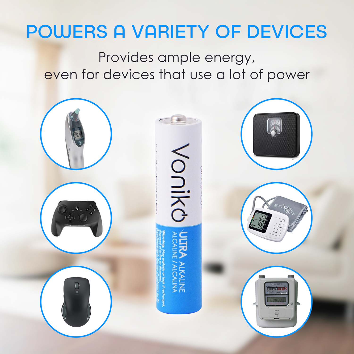power a variety of devices graphic