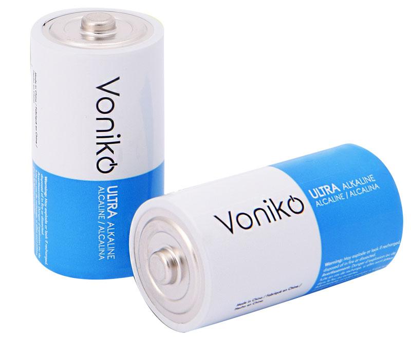 Voniko ULTRA Alkaline C Cell Batteries / Alkaline C Battery Supplier