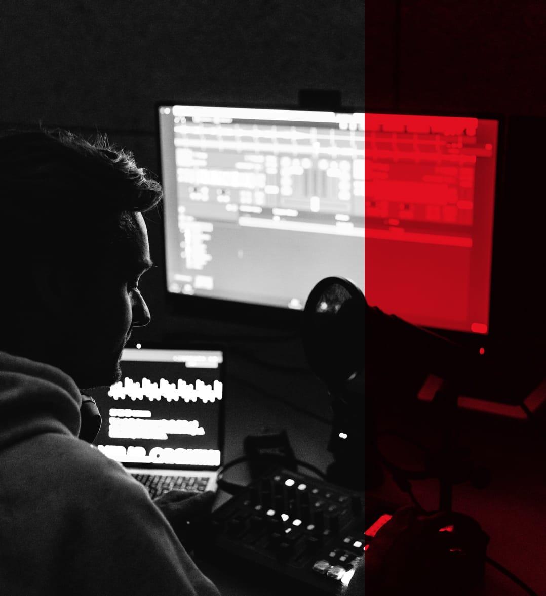 Ollie in the studio