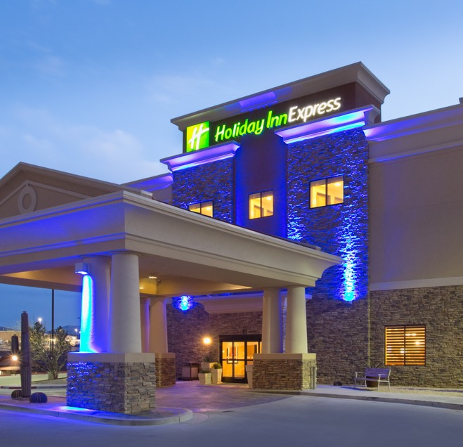 holiday inn express building front