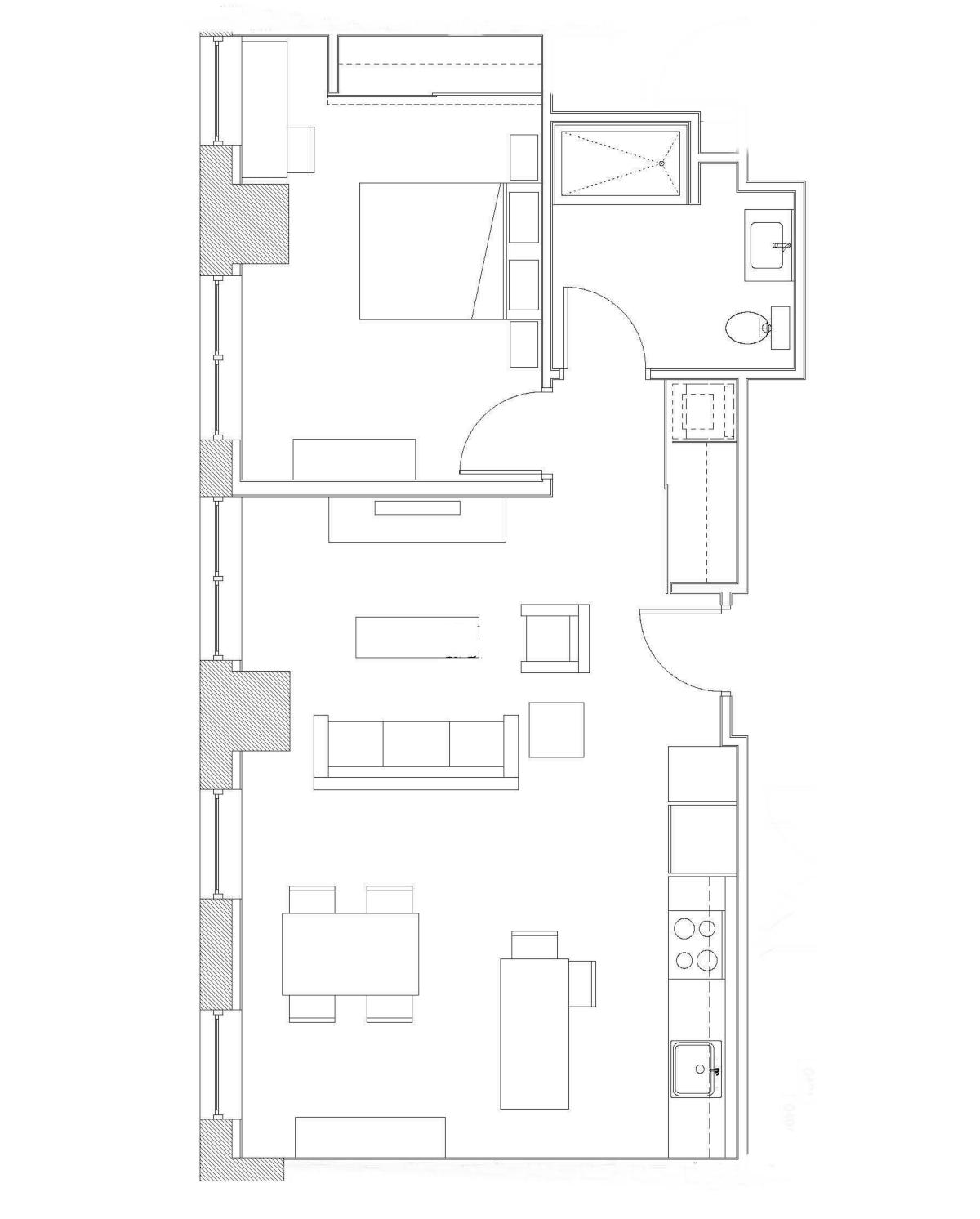 One Bedroom – Unit C