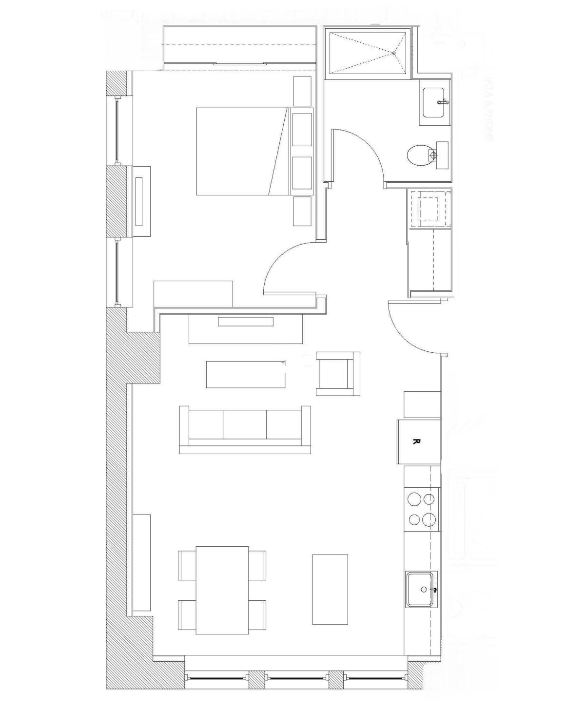 One Bedroom – Unit B