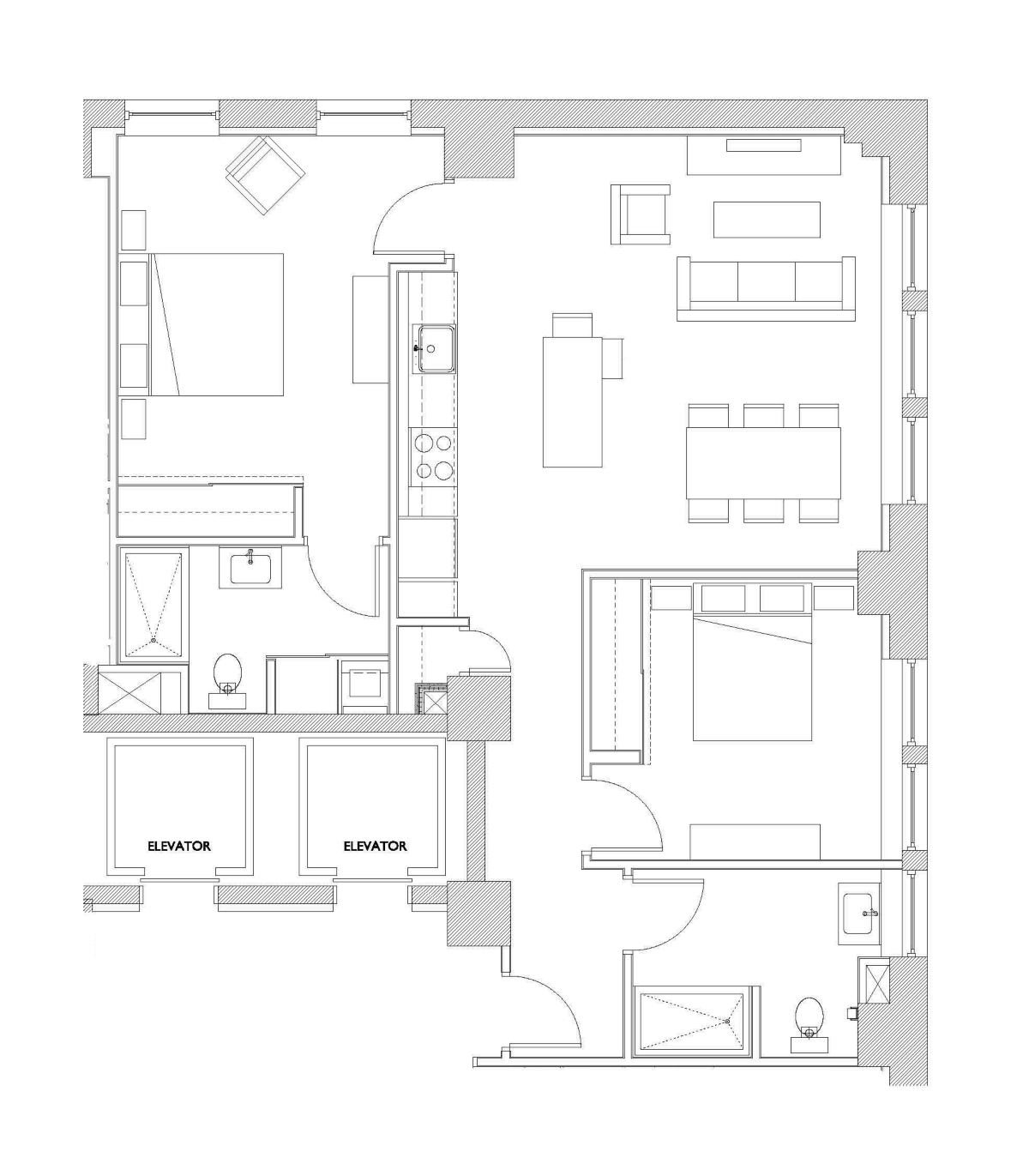 Two Bedroom – Unit A