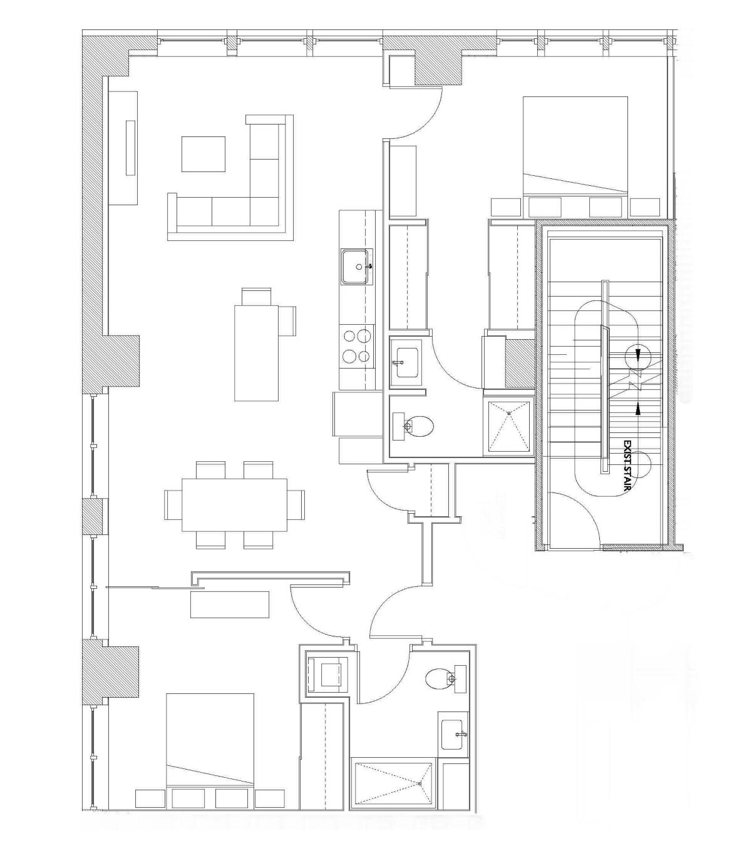 Two Bedroom – Unit D2