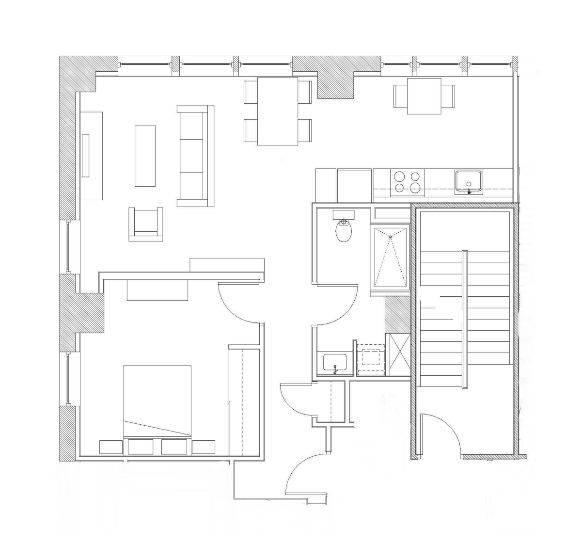 One Bedroom – Unit D