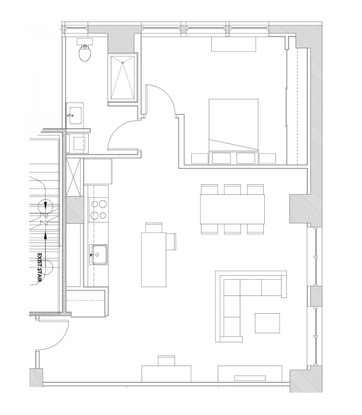 One Bedroom – Unit E2