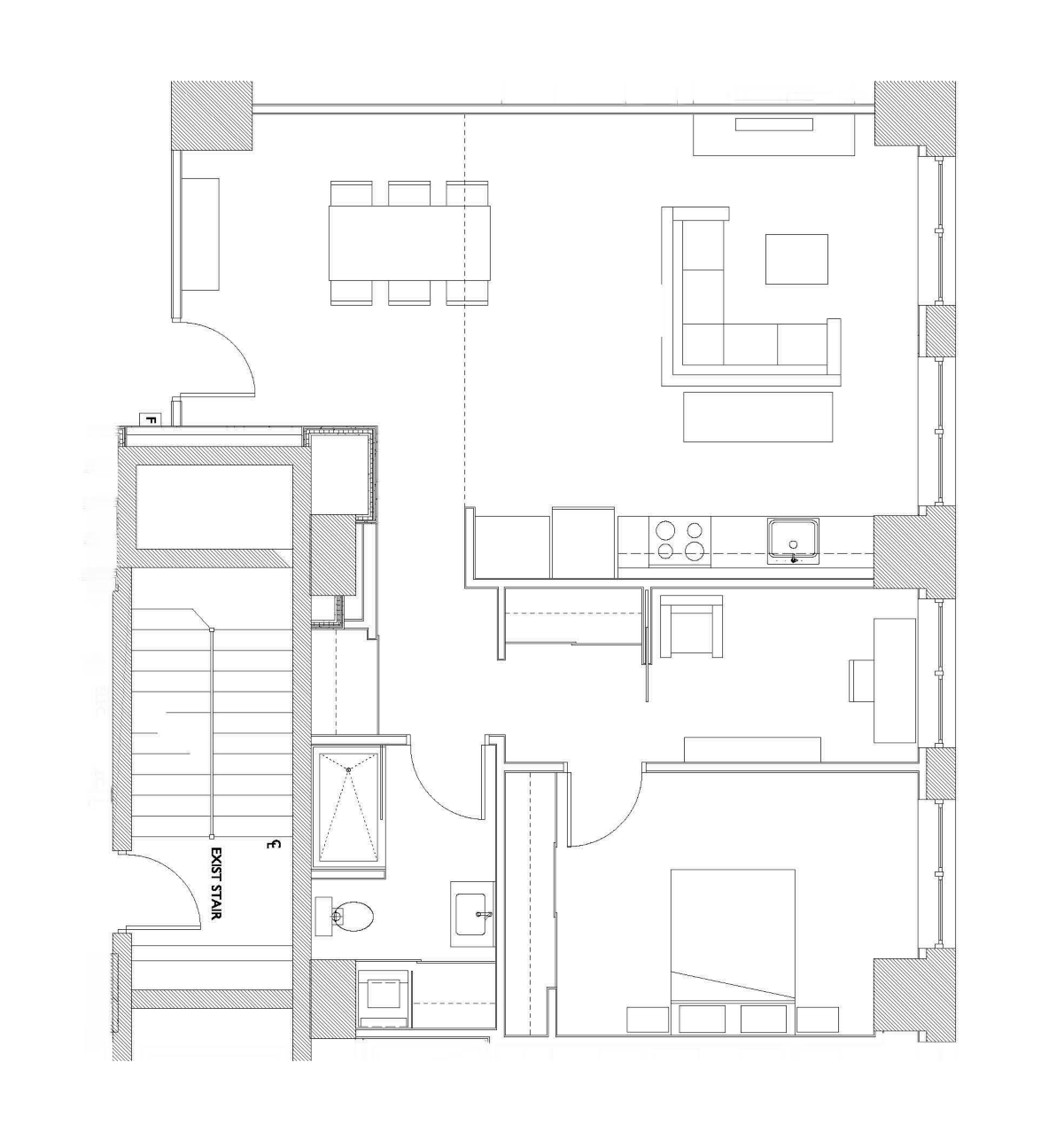 One Bedroom – Unit F2