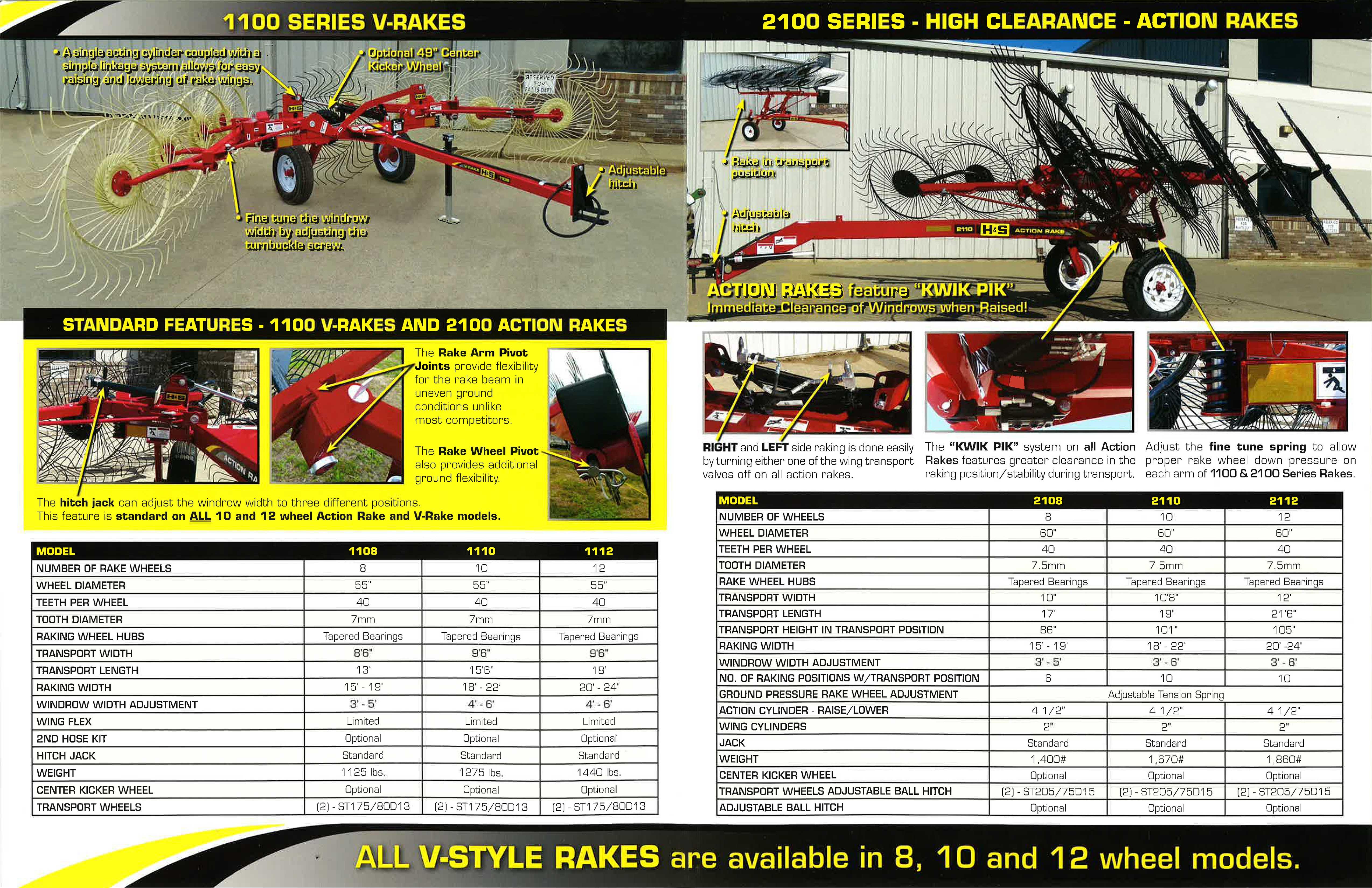 H&S Action & V-Rake