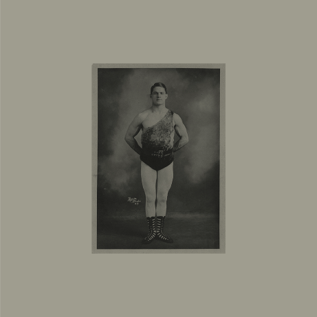 Vintage photo of a strong man for the circus