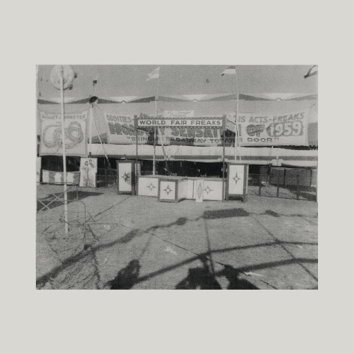 Vintage photo of World's Far booth