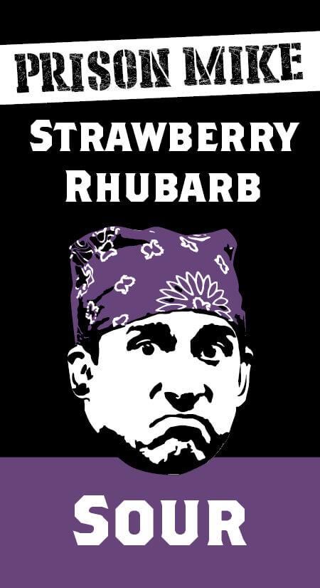 Prison Mike Strawberry Rhubarb Sour