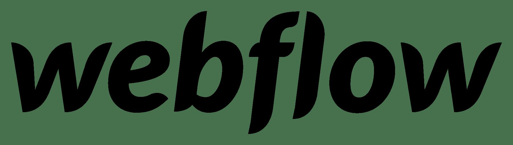 Webflow Webdesign Tool Logo schwarz