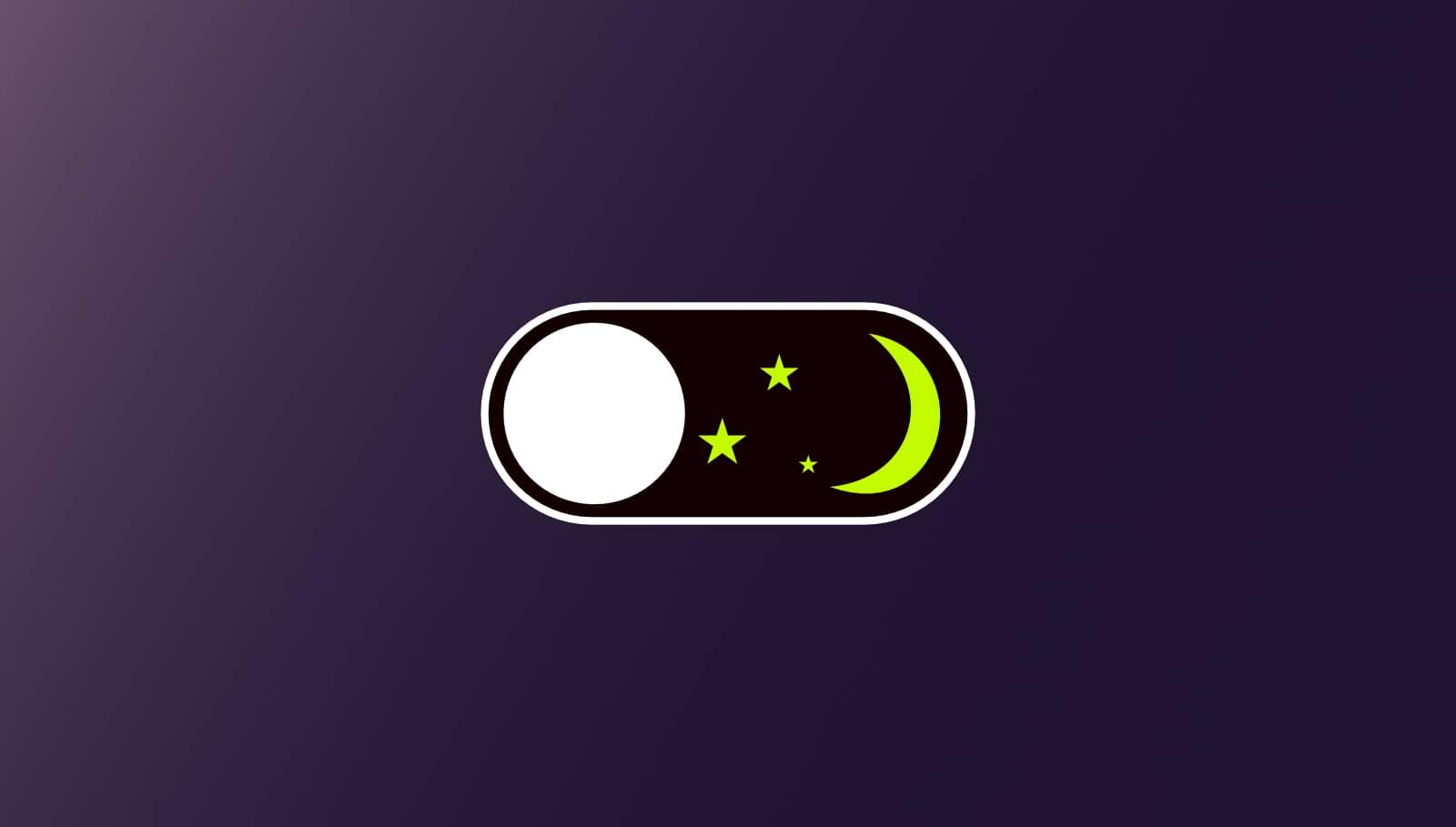 Online Business aufbauen - Darkmode Abbildung durch dunklen Button mit Sternensymbolen