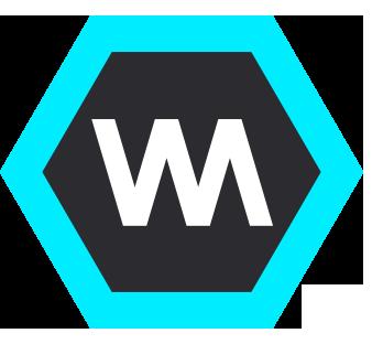 Wayra logo in a hexagon