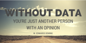 powerful data quote by Edwards Deming