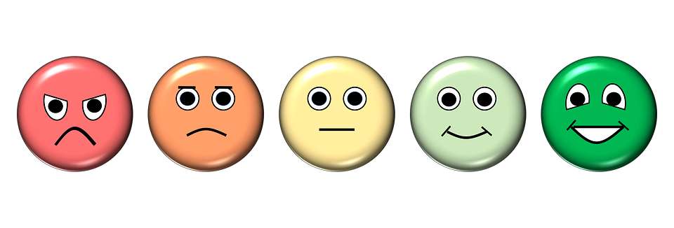 Emoticons with different expression