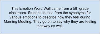 Emotion word wall summary