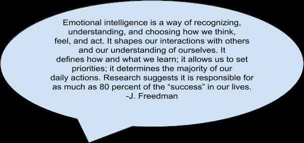 Emotional intelligence quote by J. Freedman