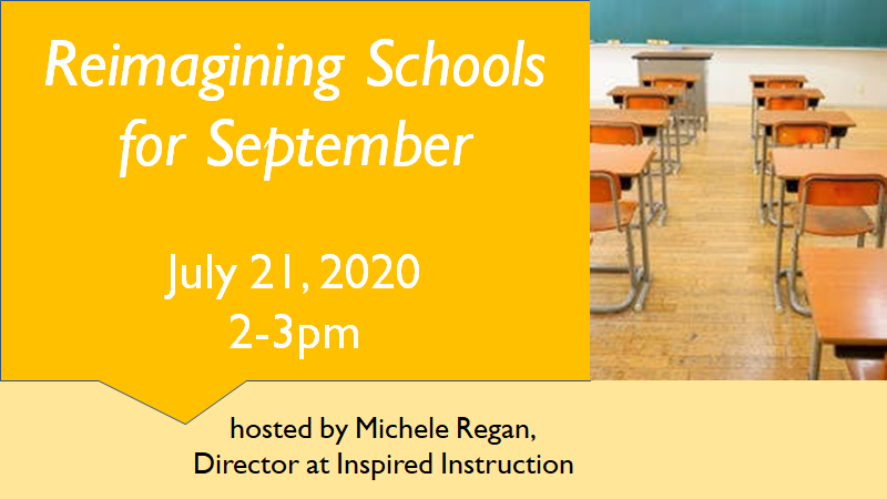 re-imagining schools for September virtual summit