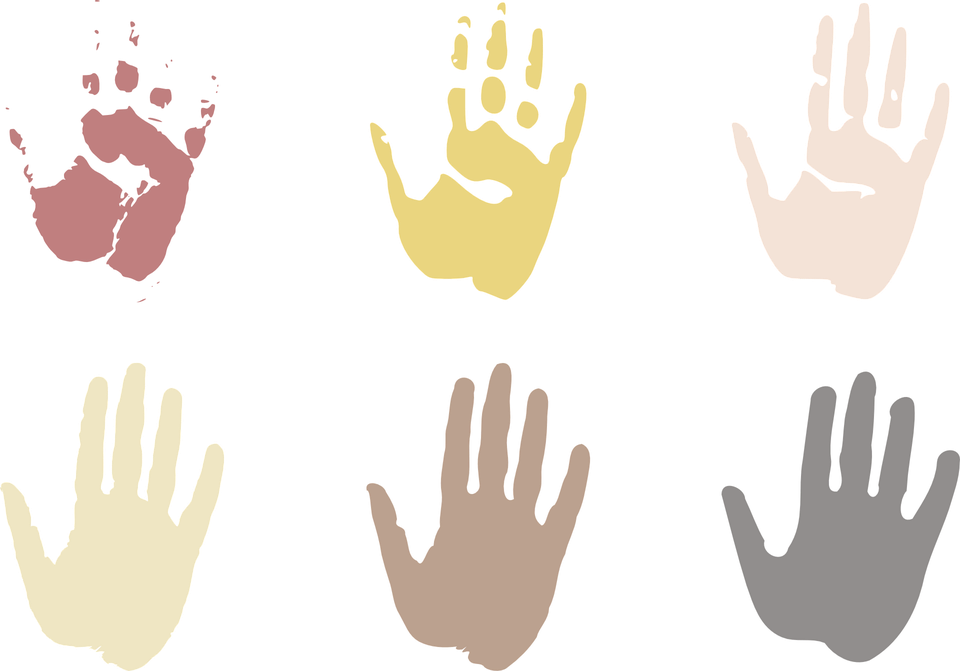 hands showing cultural bias