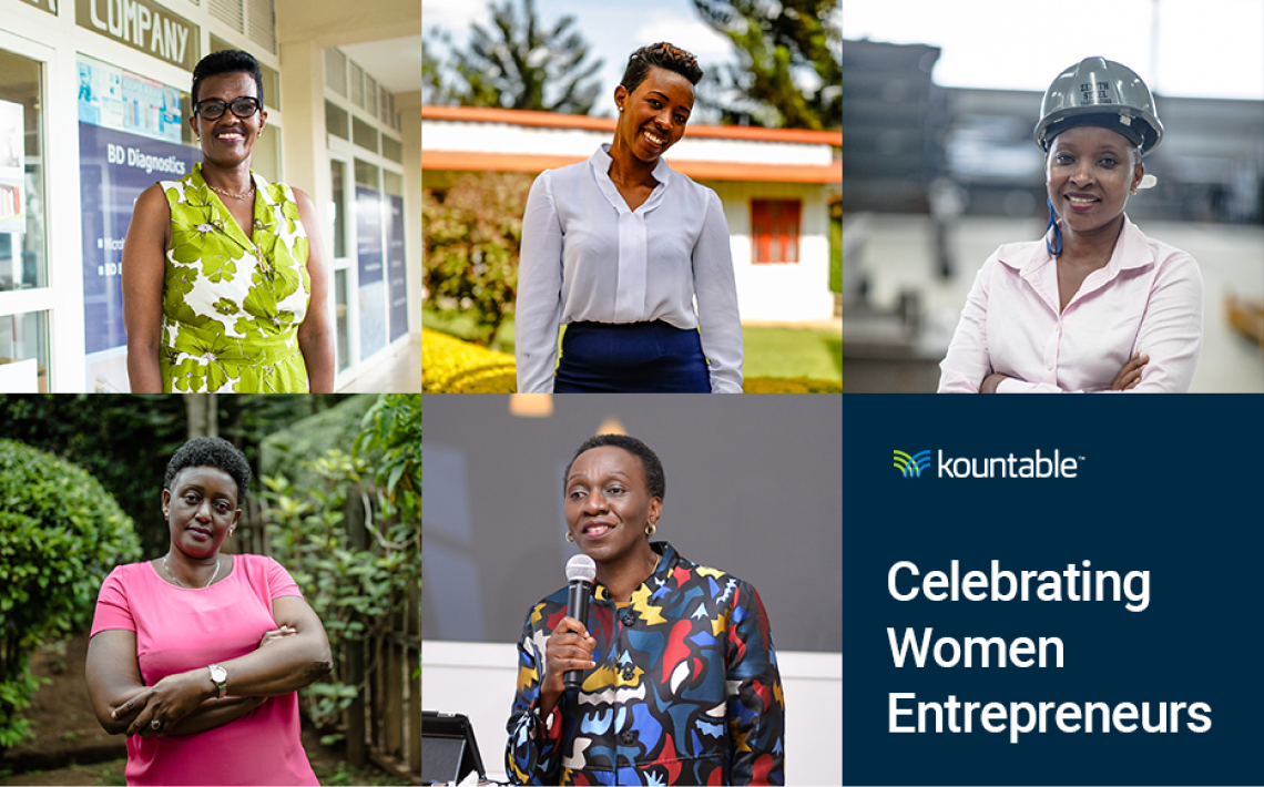 Portraits of female Kountable SME partners