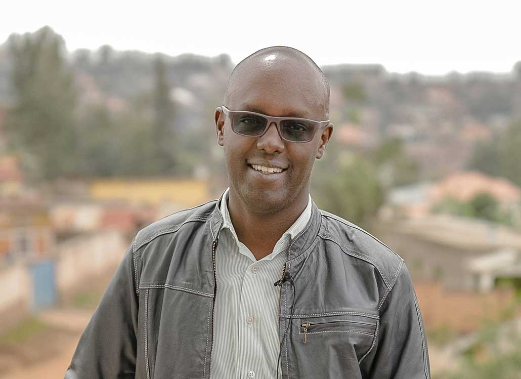Portrait of Patrick Higiro, CEO and Founder of RugeroMed in Kigali, Rwanda