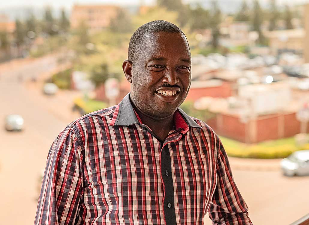 Portrait of Ananias Kavutse, Founder of K&A Technology & General Business Ltd in Kigali, Rwanda