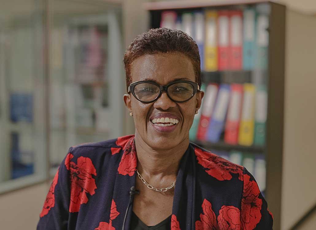Portrait of Venantie Mukarivuze, Founder and Managing Director in Kigali, Rwanda