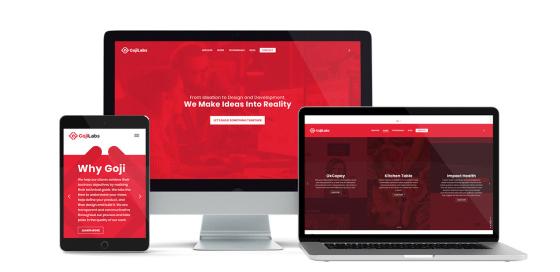 Goji Labs Website