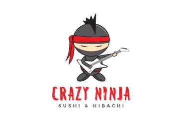 Crazy Ninja Sushi & Hibachi Logo